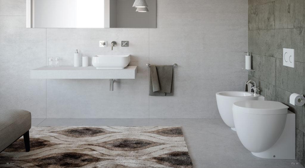 Sanitari bagno: wc e bidet a terra e sospesi - Ideal Domus Udine